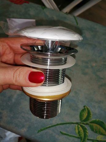Cersanit ceramiczny korek do umywalek bez przelewu