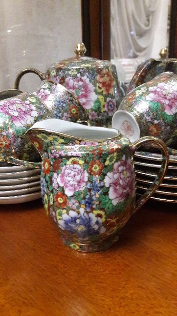 Чайный, китайский сервиз на 6 персон. Ручная роспись. Цена 7000 гр