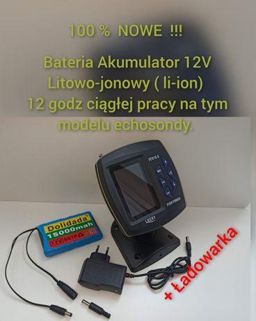 Do Łódki Zanętowej Akumulator 12V li-ion litowo-jonowy plus Ładowarka