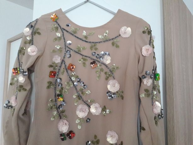 Sukienka kwiaty 34 xs