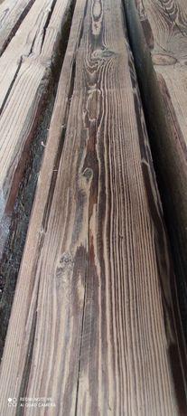 Stare belki drewniane szczotkowane na lampę stolik loft suche