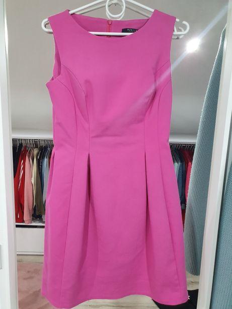 Sukienka różowa rozkloszowana MOHITO 36 idealna