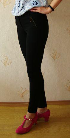 Spodnie Promod 36/38 rurki legginsy czarne