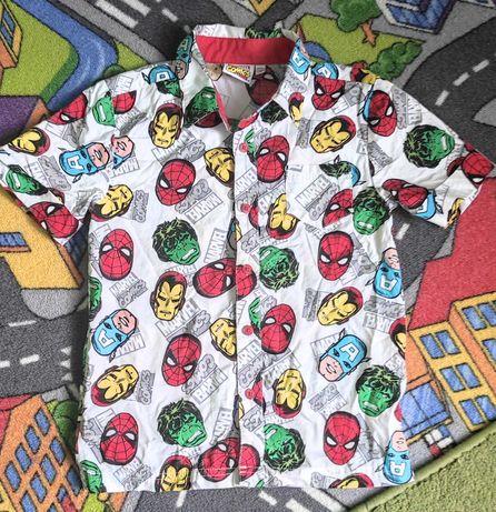 Chłopięcą koszula Marvel r.122/128