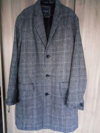 Płaszcz damski/męski rozmiar L/XL 44 w szaro czarną kratę Stan idealny