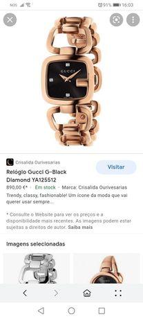 Relógio gucci G-black Diamond YA125512