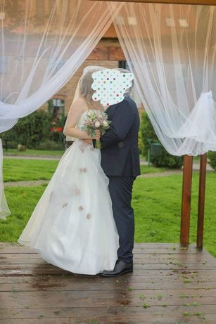Suknia ślubna 36 ecru