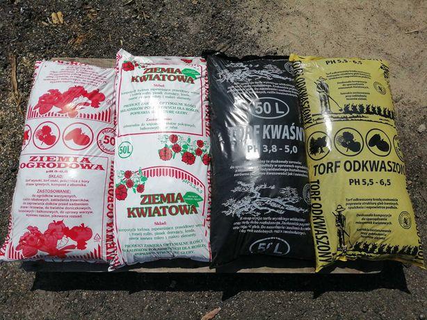 dostawa od 10szt kora sosnowa ziemia ogrodowa torf obornik podłoże