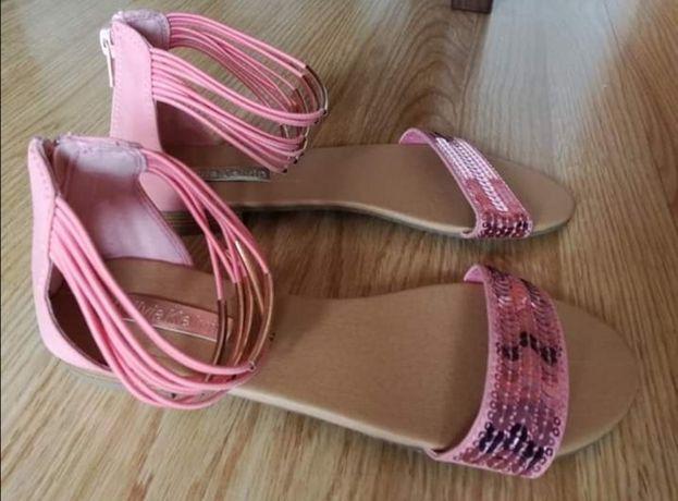 Sandałki sandały damskie 38,5 cekiny