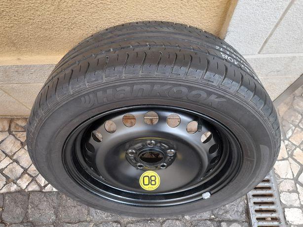 Roda suplente jante 16 5x108 Ford Volvo Renault pneu 205/55 R 16