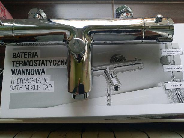 Bateria wannowa termostatyczna SMUKEE z wylewką