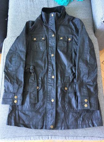 Płaszcz czarny,woskowany od F&F r.12/40/L