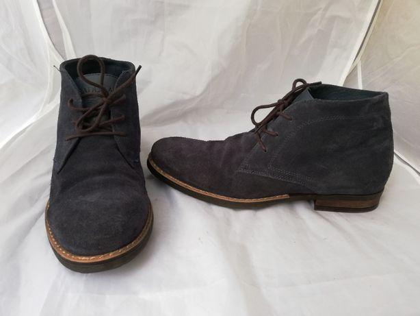 Buty skórzane zamszowe Badura r. 40 , wkł 27,5 cm
