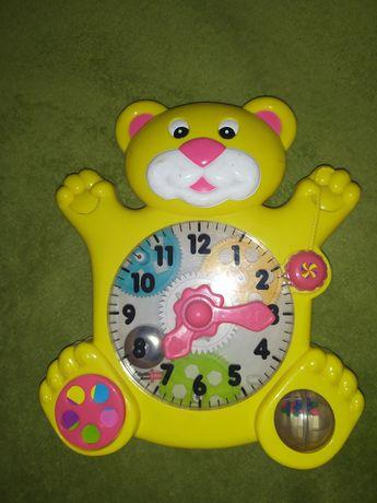 Развивающая игрушка Медвежонок-часы