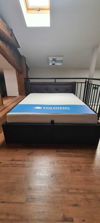 Tapicerowane łóżko GLAME Wajnert 160x200 w pojemnikiem WYPRZEDAŻ