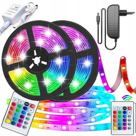 TAŚMA LED RGB SMD Wodoodporna Kolorowa + Pilot