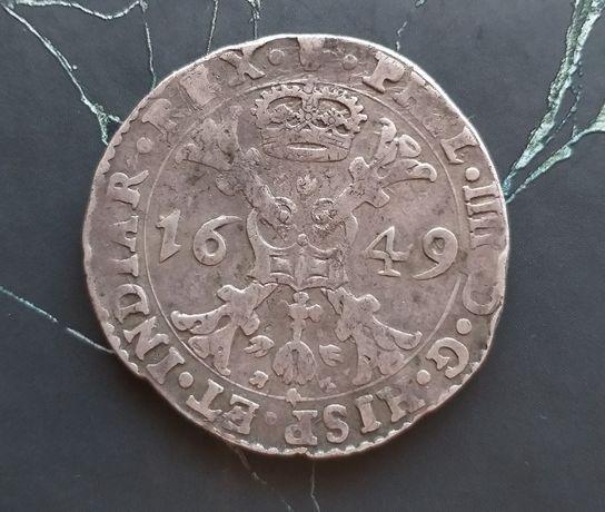 Монета талер (патагон) Испанские Нидерланды, СЕРЕБРО