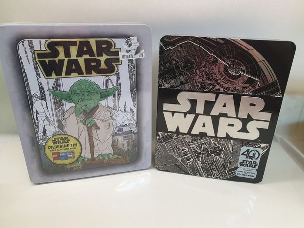 Star Wars 40th Anniversary Tin +Star Wars Colouring Tin METAL BOX nowe