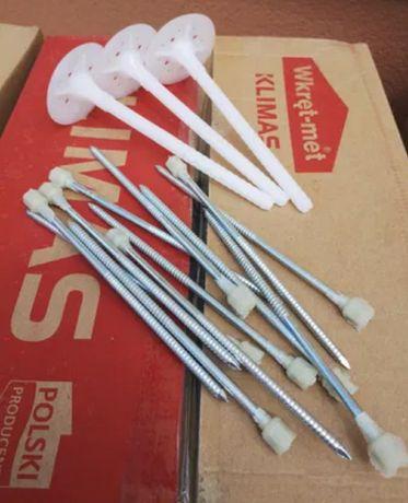 Термодюбель wkret met 180 зонтик фасадный с метал гвоздем и термоголов