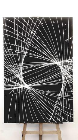 Wyprzedaż Prezent Obraz abstrakcja szt wspóczesna akryl 120 x 80