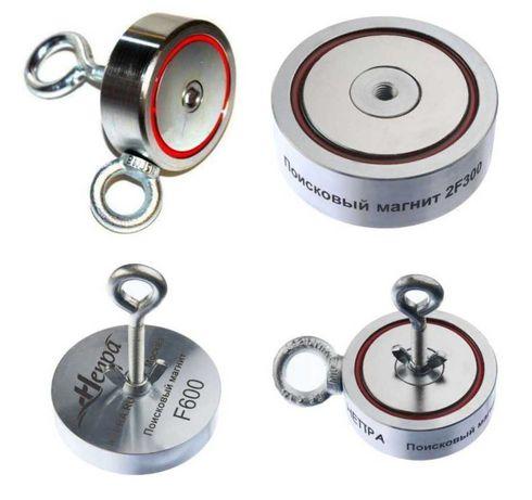 Поисковый неодимовый магнит двухсторонний F80 100 120 160 200 300 600
