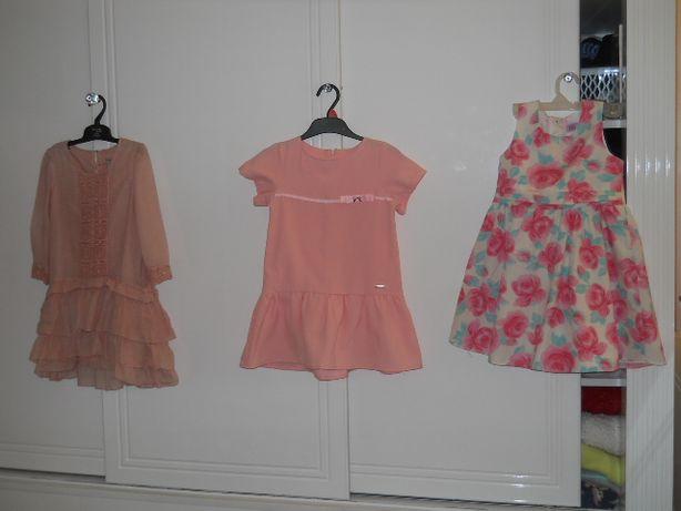 3 szt. Sukienki Zara 122/116 Dziewczynka 5-6 lat !