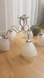 Lampa sufitowa, szklane klosze
