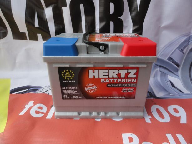 Akumulator Hertz silver 62AH gwarancja 36 miesięcy