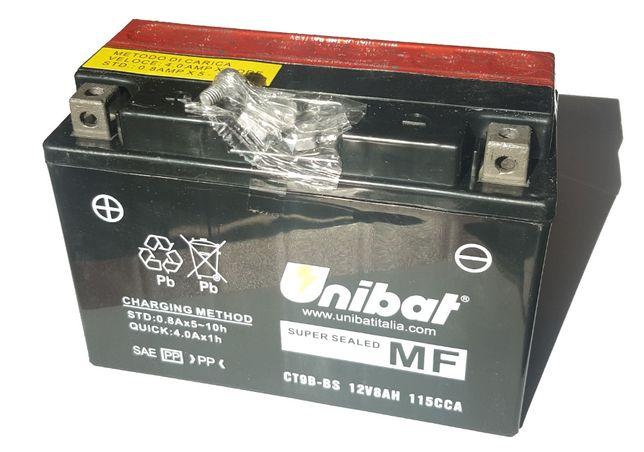 Akumulator Unibat AGM CT9B-BS YT9B-BS ET9B-BS 8Ah 115A 12V NOWY