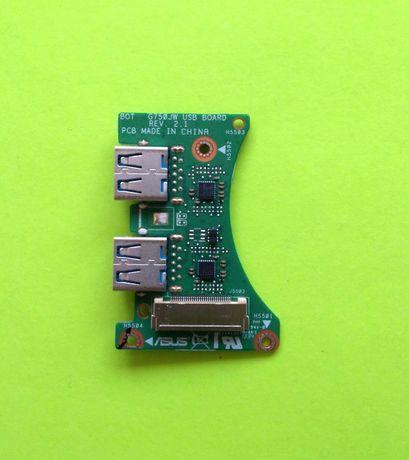 Плата ASUS G750 G750JW USB BOARD разъем юсб