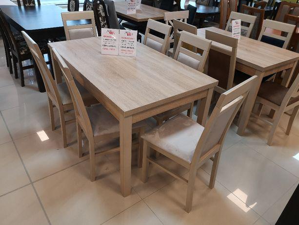 (725) Okazja! Stół rozkładany + 6 krzeseł, wyprzedaż 990 zł