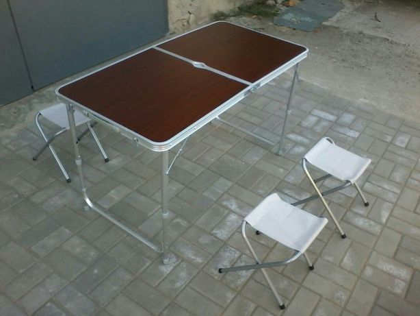 Стол усиленный раскладной + 4 стула