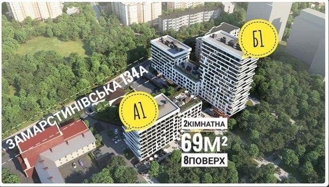 Продаж 2 кімнатна в новобудові ЖК Замарстинівська 134а-Лінкольна 2