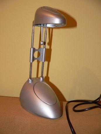 Lampka biurkowa srebrna szara