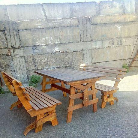 Комплект садовой мебели стол скамьи