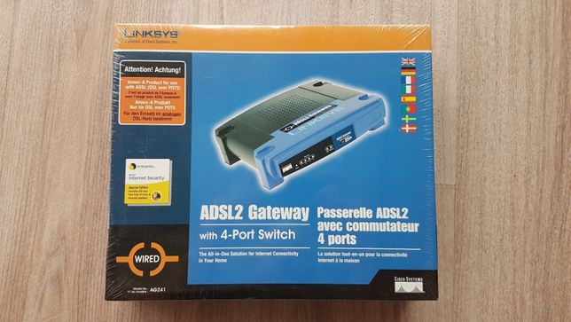 Router ADSL2 Gateway with 4-Port Switch. Nowy!