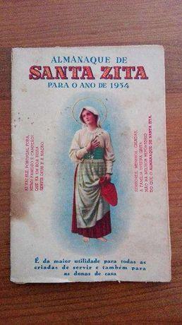 Raridade — Almanaque de Santa Zita do ano de 1954