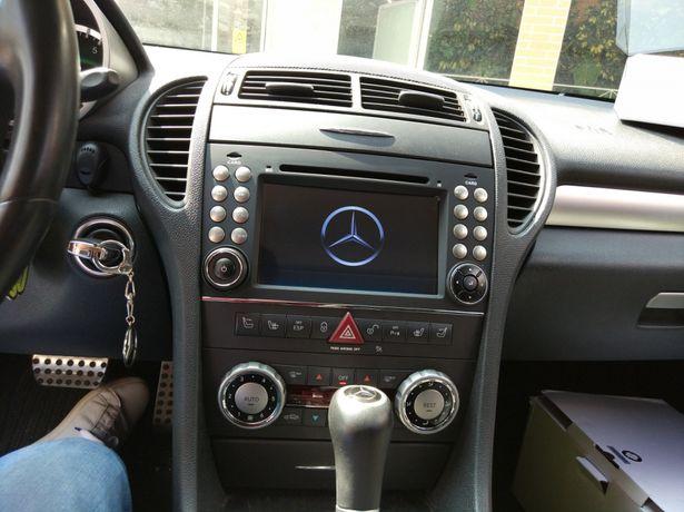 Auto rádio Mercedes SLK GPS DVD Bluetooth USB Wi-Fi