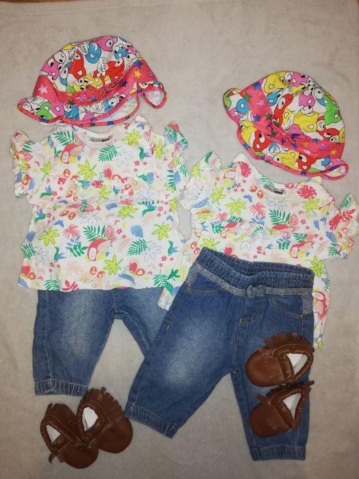 Bliźniaczki, komplet ubranek dla bliźniaczek 68 Mińsk Mazowiecki - image 1