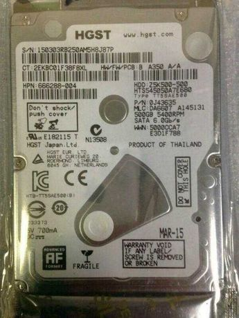 Новий жорсткий диск HGST HITACHI Z5K500-500 500GB для ноутбука 7m SATA