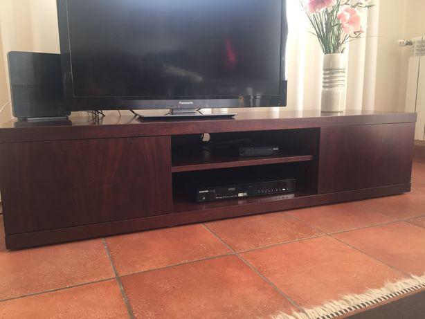 Móvel tv wengue com duas gavetas