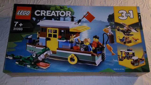 lego creator 31093 riverside houseboat selado