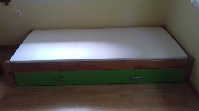 Łóżko podwójne rozsuwane
