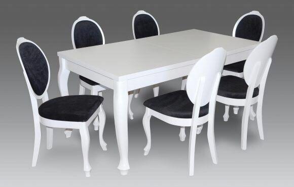 Zestaw TURYN Biały Stół + 6 Krzeseł MEGA OFERTA!