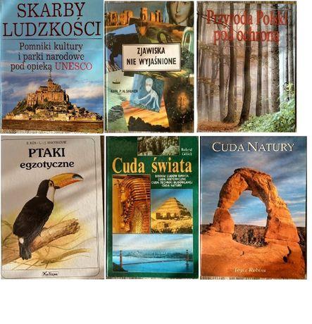6 albumów przyrodniczo - podróżniczych