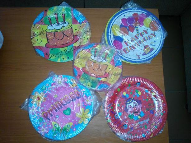 Тарелки праздничные детские одноразовые 30 шт