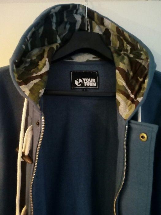 Bluza, granat, moro kaptur, rozmiar L . Nowa, Serock - image 1