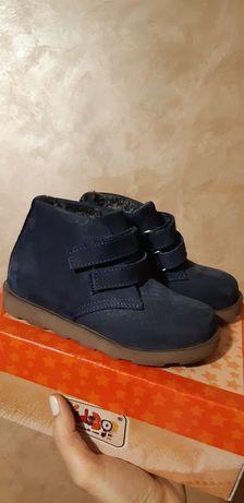Продам зимові черевики на хлопчика, натуральна шкіра (нубук).