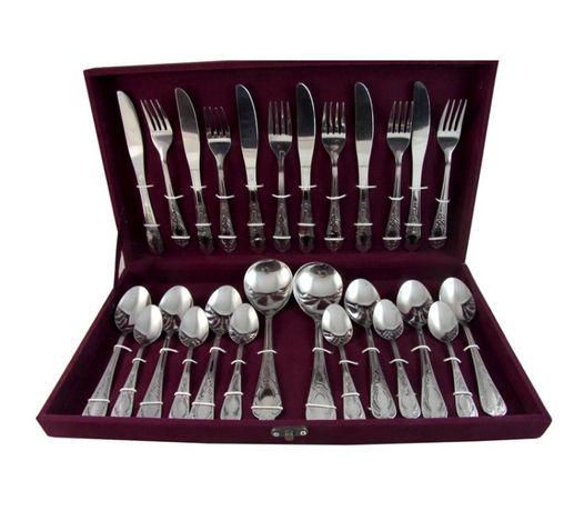 Набор столовых приборов 26 пр. Ножи,вилки,ложки для кухни,дома,пикника