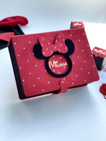 Мамині скарби скарбничка мамины сокровища шкатулка Minni Mouse крещени